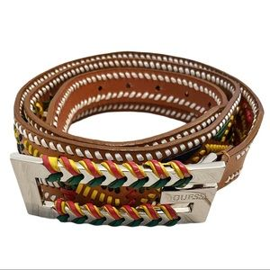 Guess bohemian western leather belt